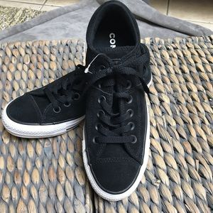 NWT Black Suede Converse Sneakers - Final Price